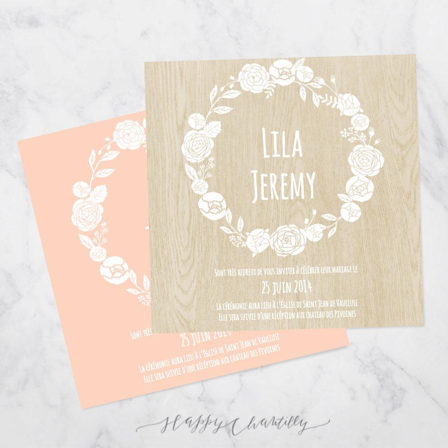 Connu Faire-part mariage Fleurs blanches – Happy Chantilly Studio MX97