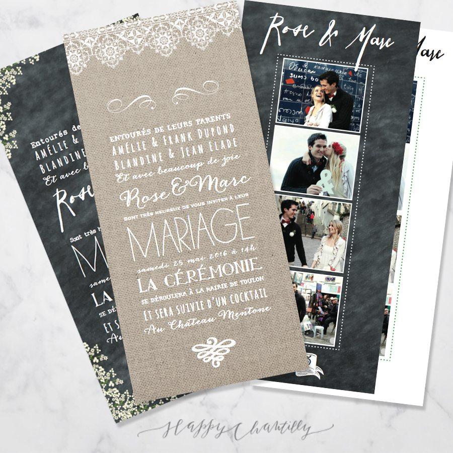 Connu Faire-part photomaton mariage (faire-part au choix) – Happy  IW37