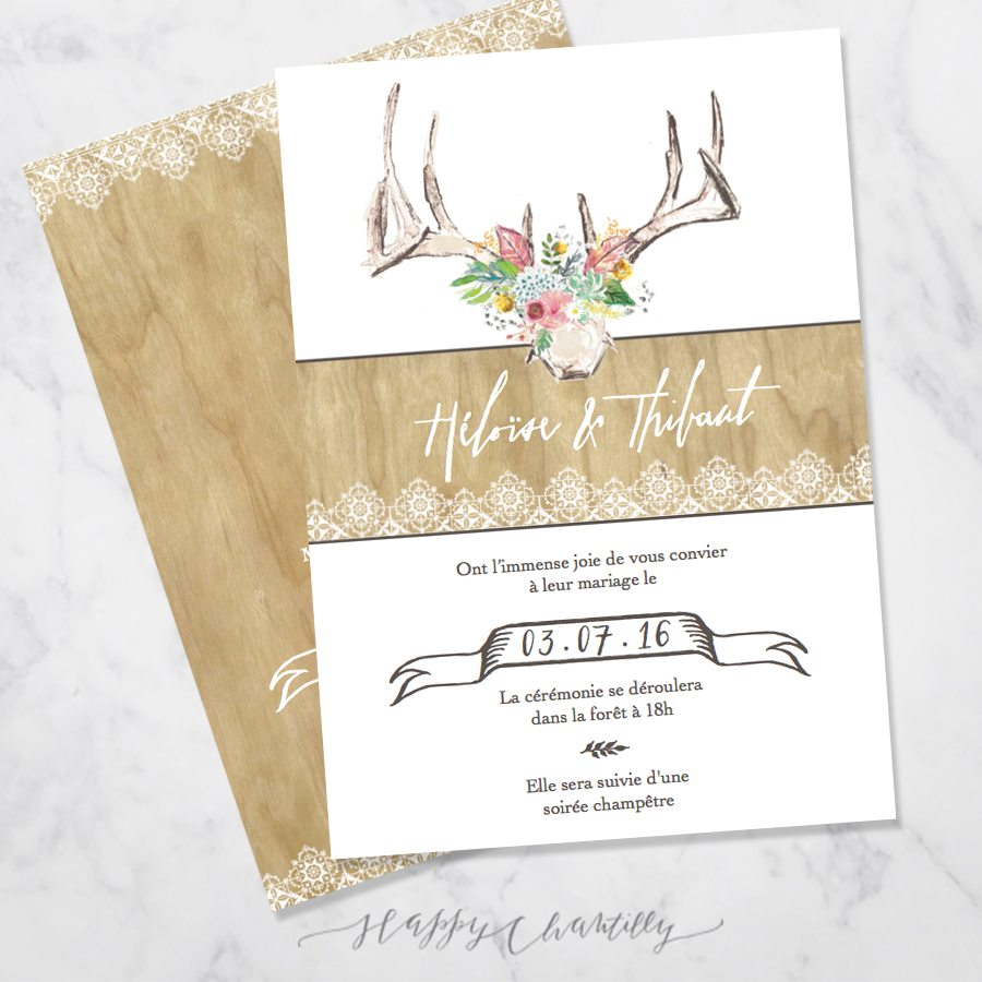 Exceptionnel Faire Part Mariage Champtre. Beautiful Faire Part Invitation Chic  LP05